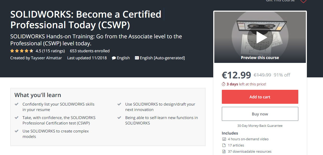 SOLIDWORKS: Become a Certified Professional